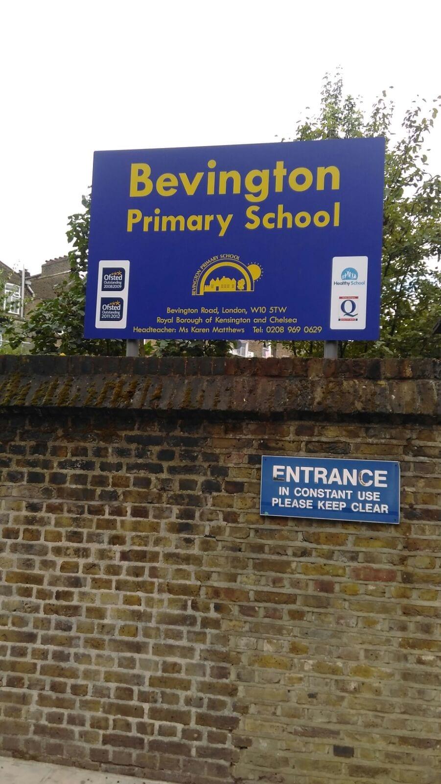 Bevington Primary School Kensington vinyl graphics