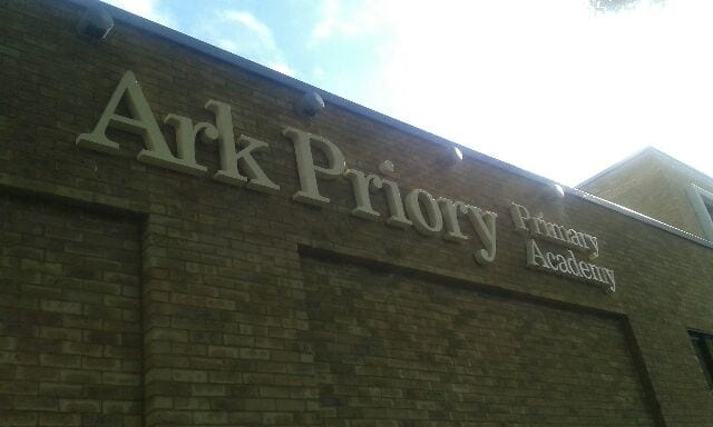 Ark Priory Primary Academy Acton South West built up letters