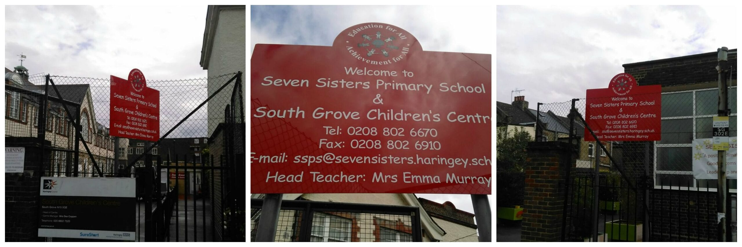 Seven Sisters Primary School South Tottenham replacement panel